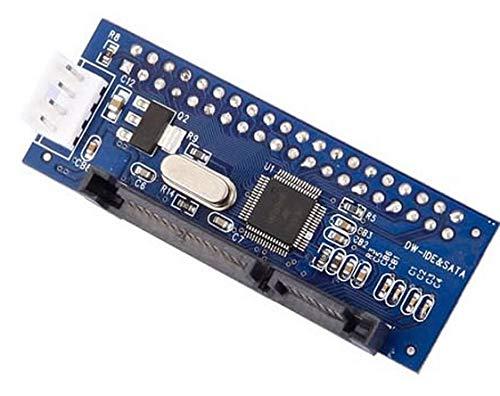 """LeHang 3.5""""IDE a Serial ATA Adaptador SATA HDD Convertidor Cable de alimentación IDE de 4 Pines Paralelo a Tarjeta de Puerto Serie para Disco Duro"""