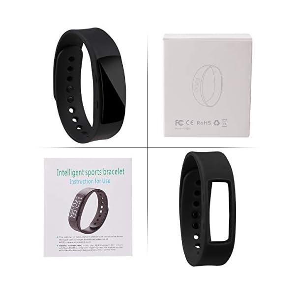 Hootracker Pulsera Actividad Fitness Smart Watch Tracker Contador de Pasos, Contador de Calorías,Distancia niños Mujer… 9