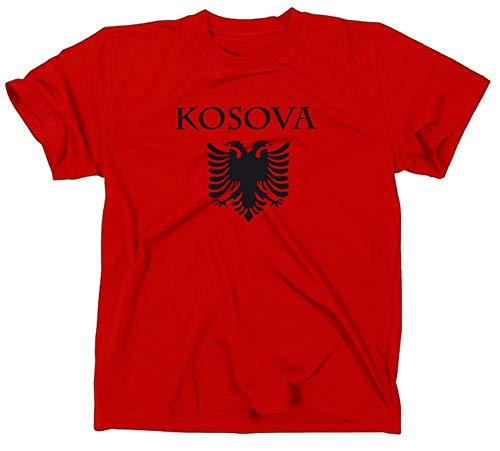 Kosovo/Kosova Albanien Flagge T-Shirt, S -
