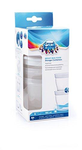 Canpol babies cb12204u–Pack de 4boîtes de lait et nourriture, 180ml