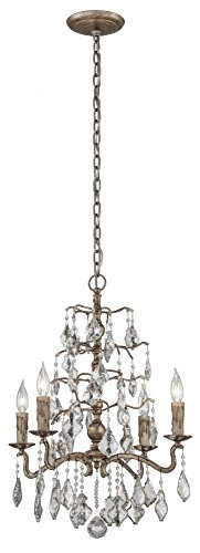 Siena Bronze-finish (Troy Lighting Siena 4-Light Pendant - Vienna Bronze Finish with Antique Mirror Crystal Shade by Troy)