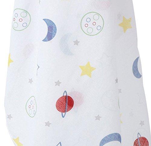 Piccalilly Windeltuch Bio Baumwolle mehrfarbig Sternen & Planeten Musselin,