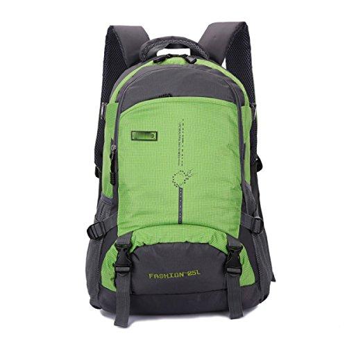 LQABW 45L Outdoor-Bergsteigen Männer Und Frauen-Schulter-Wasserdicht Atmungs Freizeit Reisen Rucksack Tasche Green