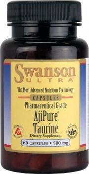 Swanson Ultra Ajipure Taurine 500mg (60 Capsules)