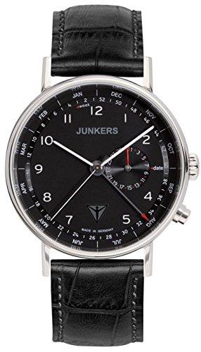 Junkers Herren Analog Quarz Uhr mit Leder Armband 67342
