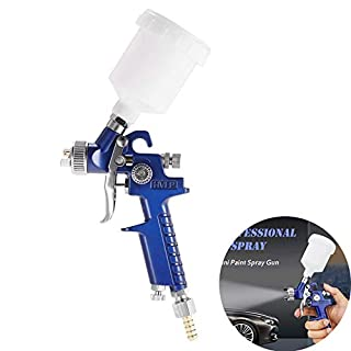 Spray Gun HVLP Airbrush Kit Air Spray Gun Paint Sprayer Gravity Feed Air Brush Set 0.8mm Nozzle Auto Car Detail Painting for Spot Repair