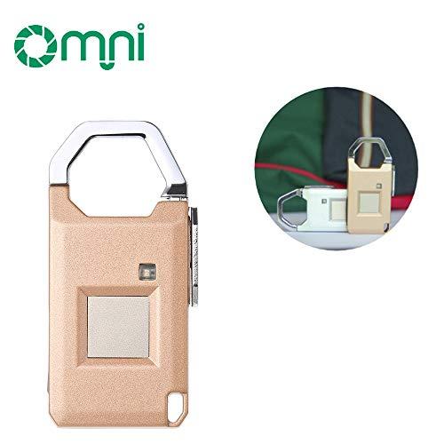 Blusea Mini Modische Fingerprint Press-to-Go Schloss für Koffer Exquisite Reisegepäck Sicherheitsschlösser mit Kontrollleuchte