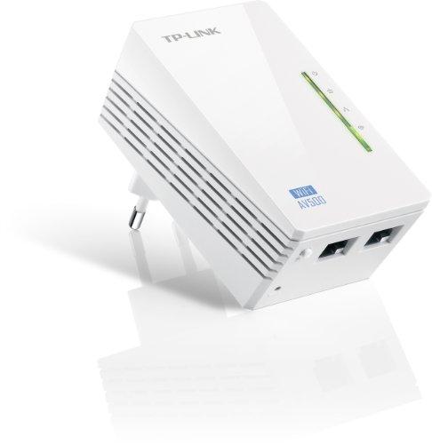 TP-Link TL-WPA4220 WLAN Powerline Adapter (WLAN Verstärker (300Mbit/s, 2,4 GHz) 600Mbit/s Powerline, WiFi Empfang verbessern, Ergänzungsadapter, 2x 10/100M LAN Ports, WiFi Clone) weiß, 1er Pack