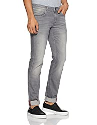 LP Jeans By Louis Philippe Mens Tapered Fit Jeans (8907410819678_LRDN1R00935_Grey_Grey)