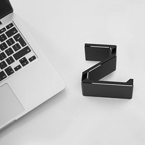Kopfhörer Ständer, GVDV Kopfhörerhalterung aus Aluminium unter Schreibtisch Headset Halterung Kopfhörer halter Standplatz für alle Headset Kopfhörer (Schwarz) - 8