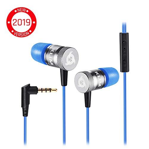 KLIM Fusion Audio Kopfhörer - Langlebig + 5 Jahre Garantie - Innovativ: In-Ear-Kopfhörer mit Memory Foam [ Neue 2019 Version ] Blau -