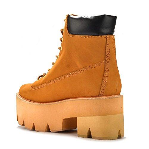 Jeffrey Campbell Nirvana Boots aus Wildleder, Damen Sand