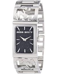 Miss Sixty R0753130503 - Reloj con correa de caucho para mujer, color negro / gris