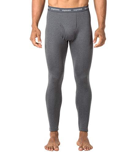 LAPASA Uomo Pantaloni Termici Invernali Ad Alta Densità Intimo Super Termico Heavyweight M25 (Medium, Grigio Scuro)