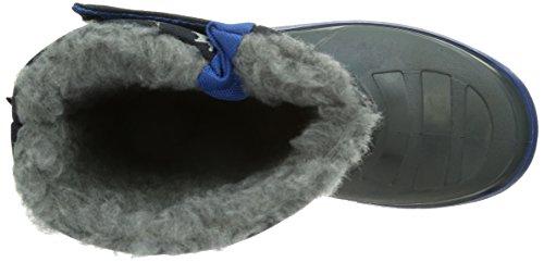 Captn Sharky 120103, Bottes de neige de hauteur moyenne, doublure chaude garçon Bleu - Bleu