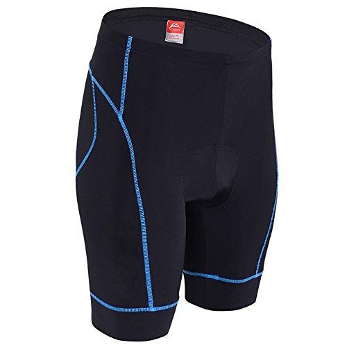 ALLY 3D Profesional Hombres Moldeado Acolchado Anti-Bac Ciclismo Culottes con Aire de Alta Permeabilidad - M/L/XL/XXL/XXXL opcional (Negro/Azul, XXL 36'-38')