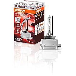 OSRAM XENARC NIGHT BREAKER LASER D1S, +200 % mehr Helligkeit, HID Xenon-Scheinwerferlampe, 66140XNL, Faltschachtel (1 Lampe)
