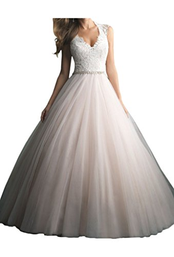 Victory Bridal Vintag Weiss Spitze Lang