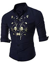 Warm Comfortable For Daily Sports Work Leisure BUSIM Men's Long Sleeved Shirt Autumn Winter Personality Printing...