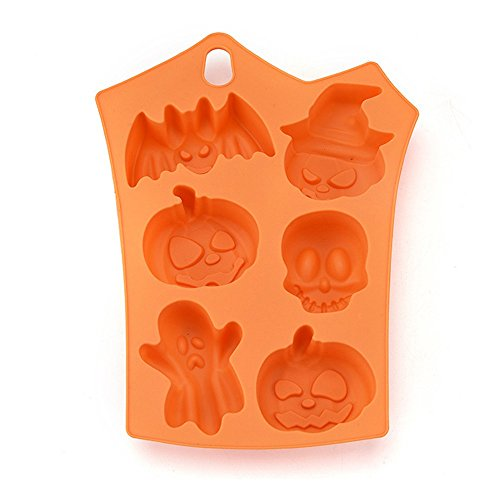 VEMOW Heißer Halloween Party Kreative Happy Halloween Silikon Kürbis Kuchen Silikonform Küche Backen Werkzeuge(Rosa, 23 * 17.5 * 1cm) (Kreative Herren-halloween-kostüme Ideen)