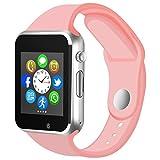Kivors Bluetooth Smartwatch Sport Watch FitneesTracker avec Podomètre Smart Santé Wrist Watch 1.54 Pouces Ecran Tactile Compatible pour Tous Les Android Smartphone