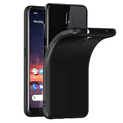 VGUARD Hülle Case Kompatibel für Nokia 3.2, Premium Schwarz Tasche Schutzhülle Weiche TPU Silikon Gel Schutzhülle Case Cover für Nokia 3.2