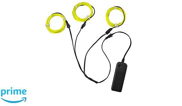 3 Strobing Rot Leuchtelektrolumines Wires (EL Wire) auf 1-Teiler für ...