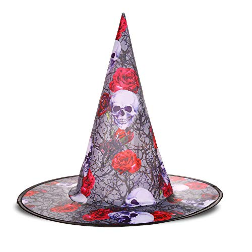 longhua Chapeau Halloween Mascarade fantôme Chapeau Citrouille Chapeau de sorcière Chapeau de sorcière Rose tête fantôme