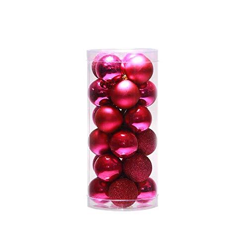 Migvela 24 pezzi 4 cm 6 cm 8 cm bagattelle lucide moderne dell'albero di natale palline per feste matrimonio ornamento da appendere decorazioni natalizie