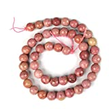 Reiki Crystal Products Rhodocrosite Loose Beads Diamond Cut 8 mm Stone Beads for Jewellery Making Bracelet Beads Mala Beads Crystal Beads for Jewellery Making Necklace/Bracelet/Mala