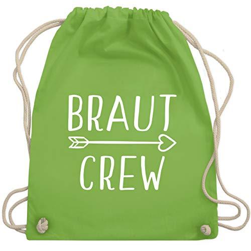 Grüne Der Kostüm Pfeil - JGA Junggesellinnenabschied - Braut Crew Pfeile - Unisize - Hellgrün - WM110 - Turnbeutel & Gym Bag