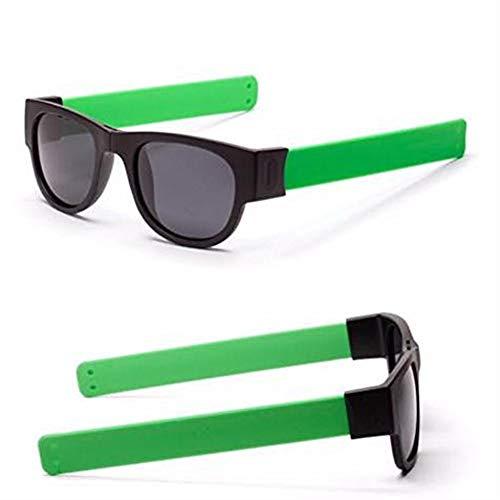 Storerine Kreative Brille Polarisierte Sonnenbrille Schutzbrillen Snap Bracelet Bands Handgelenk faltende Fahren Sonnenbrille schwarz, blau, grün, rot, orange, rot