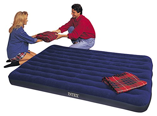 Intex Luftbett Classic Downy Blue Queen, Blau, 152 x 203 x 22 cm -