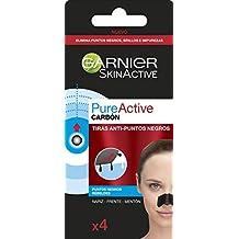Garnier Skin Active PureActive Tiras de Carbón Anti Puntos Negros, Espinillas y Poros de la