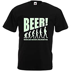 N4534 Camiseta The Beervolution (XXXXX-Large Negro Fluorescente)
