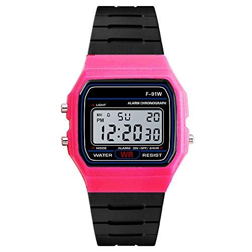 Yvelands Luxus Uhren Männer Analog Digital Military Army Sport LED Wasserdichte Armbanduhr(Hot Pink,Free)