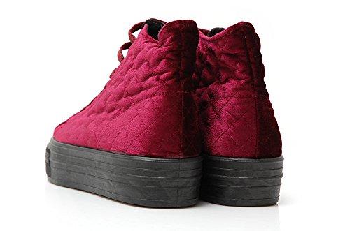 Ripness Gang Bad Quilt_me Bordeaux Shoes-Baskets Matelassées Bordeaux Violet - Bordeaux