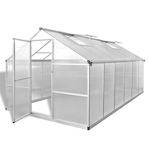 Festnight Serre de Jardin Tente pour Fleur Plante Cadre Renforcée en Aluminium 9,025 m²