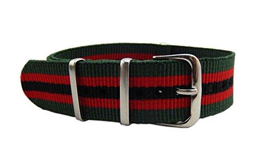 18-millimetri-verde-rosso-nero-di-fascia-alta-della-fascia-di-nylon-di-fascia-alta-di-stile-della-na