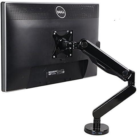 Zolion movimiento completo fricción Escritorio brazo de montaje VESA Resorte de Gas Monitor de brazo de montaje de altura ajustable para soportes de mesa de 19