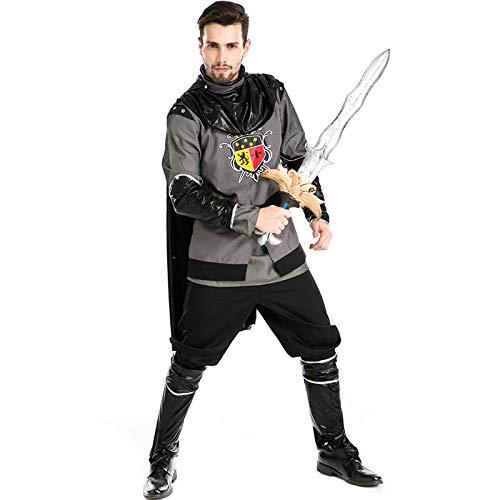 Kostüm Kaiser Griechischen - COSOER Griechischer Kaiser Cosplay Kostüme Krieger Gladiator Piraten Kleidung Für Halloween Herrenbekleidung,Multi-Colored-M