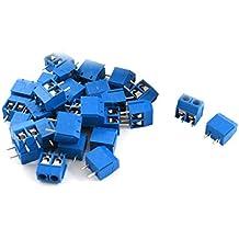 sourcingmap® 30 pezzi 5,08 mm passo 2 pin connettori PCB vite terminale del connettore di blocco di alimentazione