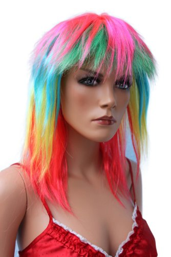 Hot Pink Perücke Kostüm - HOT sexy Perücke wig pruik