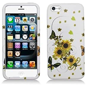 Aimo IPH5PCIM263 Durable Hard Snap-On Case for iPhone 5 - 1 Pack - Retail Packaging - Sunflowers