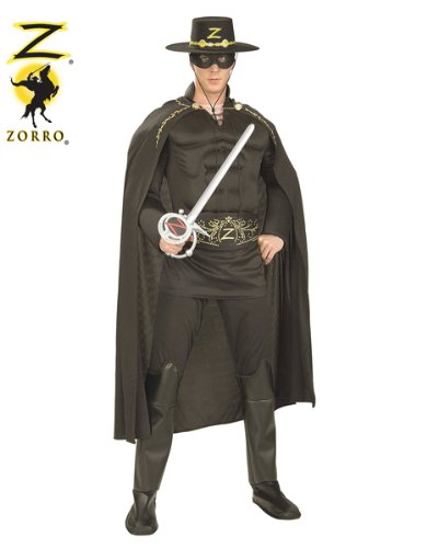 Deluxe Zorro Räuber Kostüm Erwachsene Karneval Fasching Verkleidung Standard