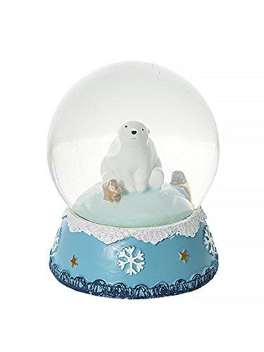 Palla di neve globo orso polare decorazione di natale - non è perfetto - decolorazione