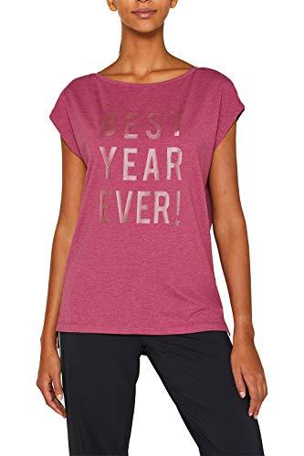 ESPRIT Sports Stretch-Shirt mit tonigem Statement