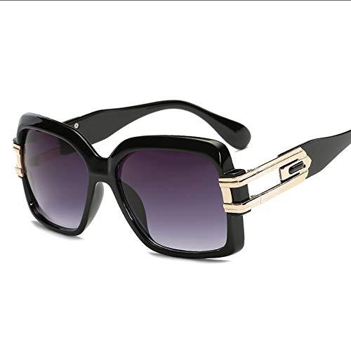 PFMY.DG Damen-Vintage-Big-Frame-Mode-Mode-Ton-Sonnenbrille - voller UV400-Schutz - Outdoor-Aktivitäten (4 Modelle),Black