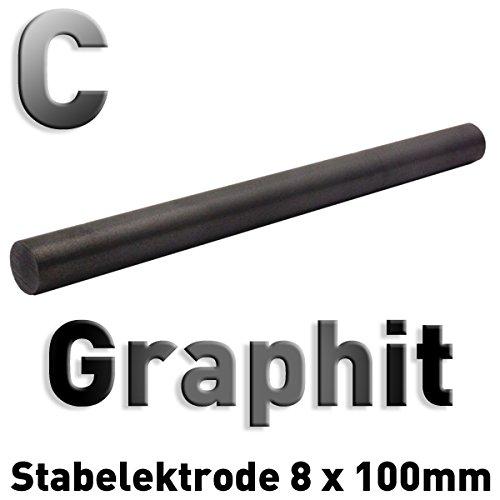 Graphit-Stab-Anode / Elektrode (10 cm x 8 mm) für Galvanik (Graphit-stab)