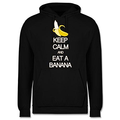 m and eat a banana - M - Schwarz - JH001 - Herren Hoodie (Bananen-mann-outfit)